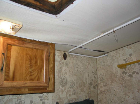 trailer water damage repair picture