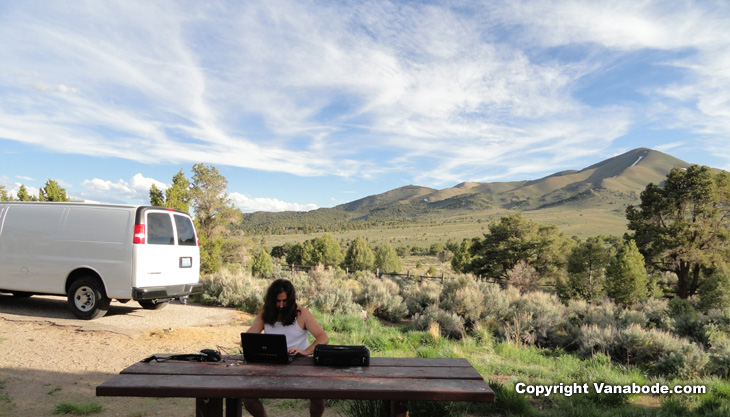 austin nevada camping image from Vanabode