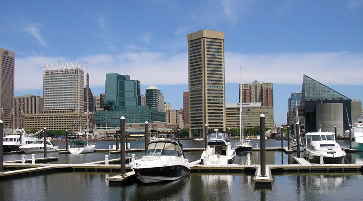 picture of harbor in baltimore maryland
