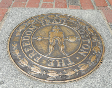 freedom trail marker picture in boston