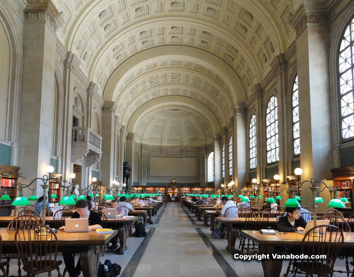 picture inside the boston public library