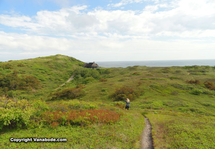 Cape Cod Pamet Trail to the beach in Massachusetts