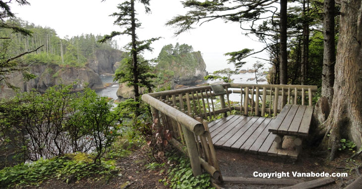 picture of picnic area at cape flattery