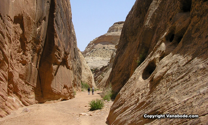 hiking capitol reef picture