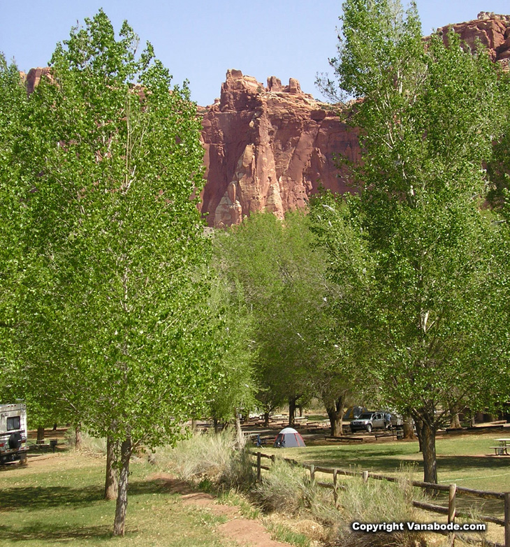 capitol reef fruita campground picture