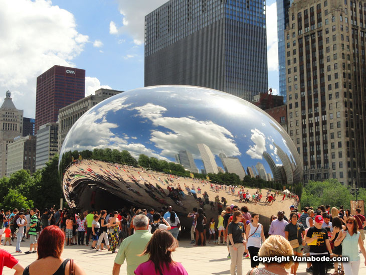 chicago chrome bean on road trip vacation