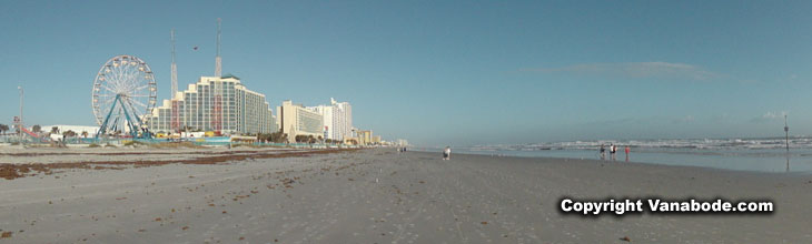 picture of daytona beach at low tide