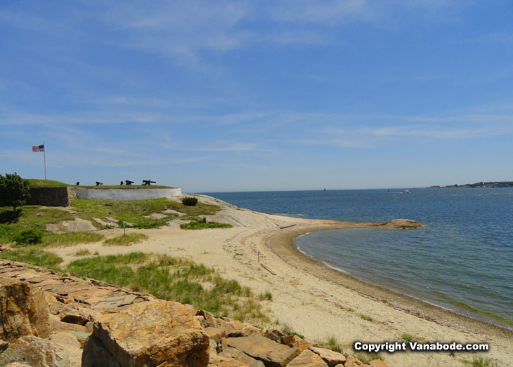 Fort Phoenix State Beach and Reservation Fairhaven in massachusetts during the summer 2014