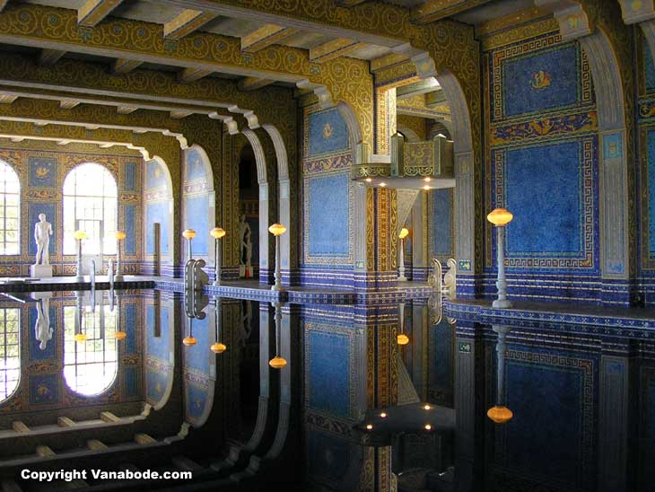 hearst castle has an incredible billion plus piece tile pool  heres a picture