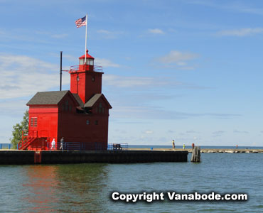 Holland Big Red Harbor Light