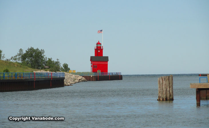 harbor light called big red in holland michigan