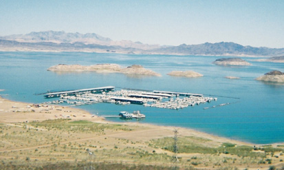 picture of marina at lake mead nevada