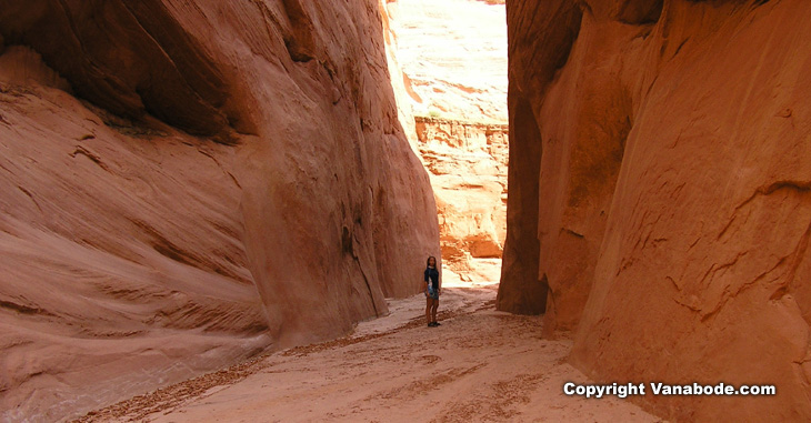 picture taken while hiking antelope canyon in lake powell utah