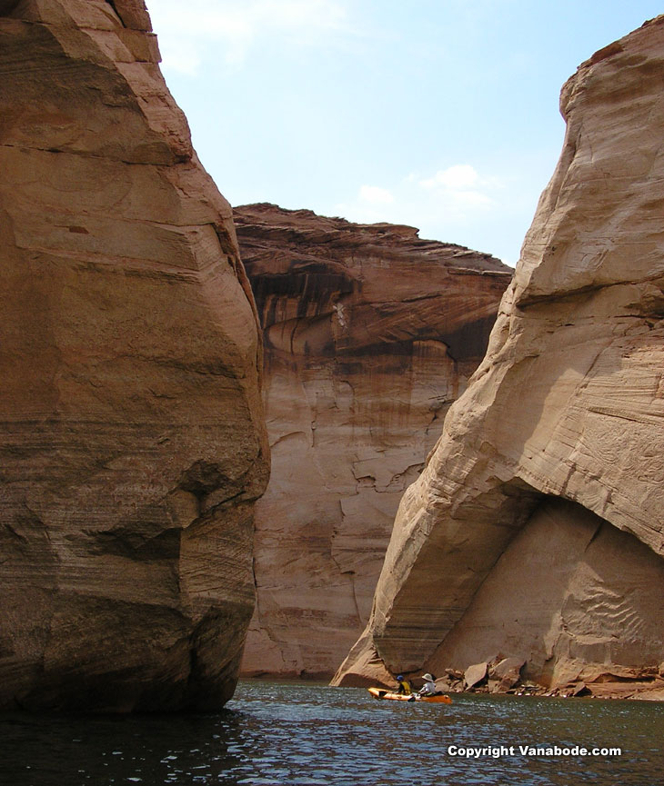 canyon kayaking at lake powell arizona utah picture
