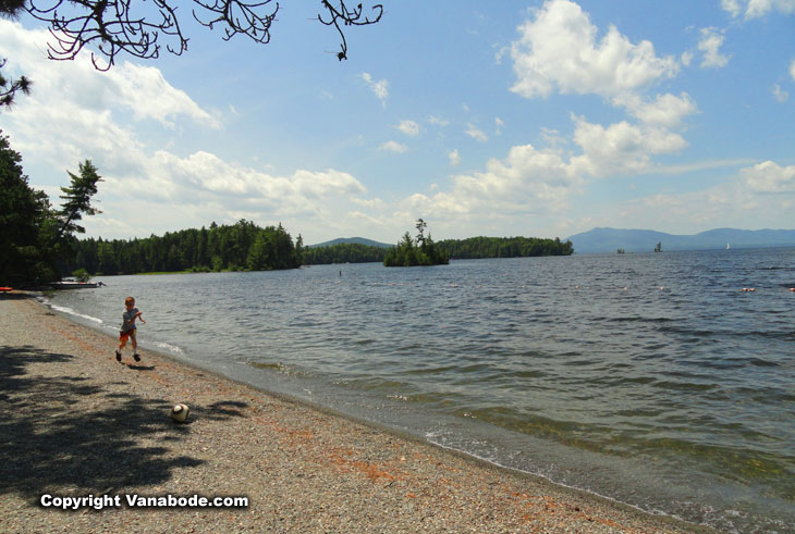 moosehead lake in lily bay