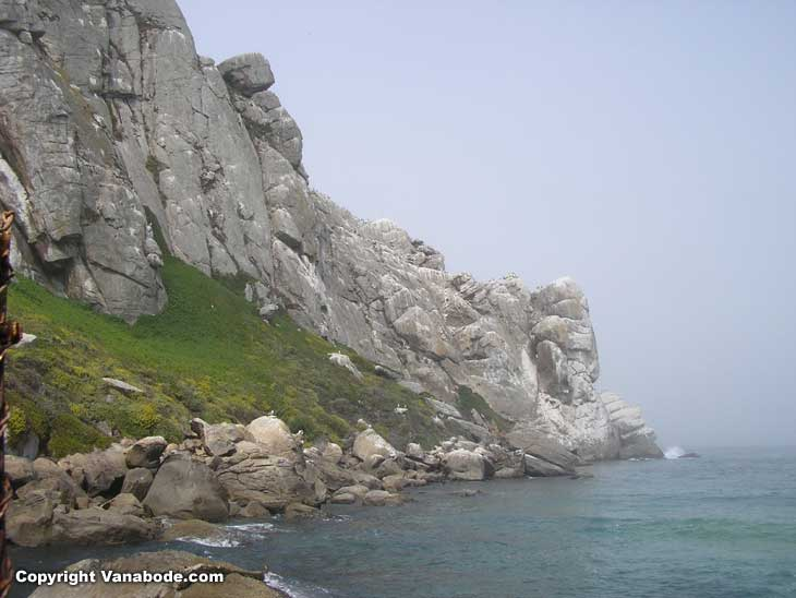 morro rock can be climbed and scuttled but if you fall it is serious danger below