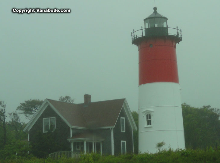 Nauset lighhouse in Cape Cod