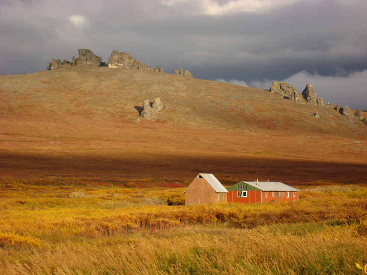 picture of serpentine bunkhouse bering land in alaska