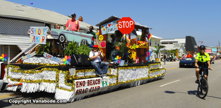 shaggers parade float in North Myrtle Beach