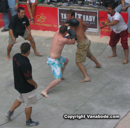 Picture of fighting at Broken Knuckle, Sturgis