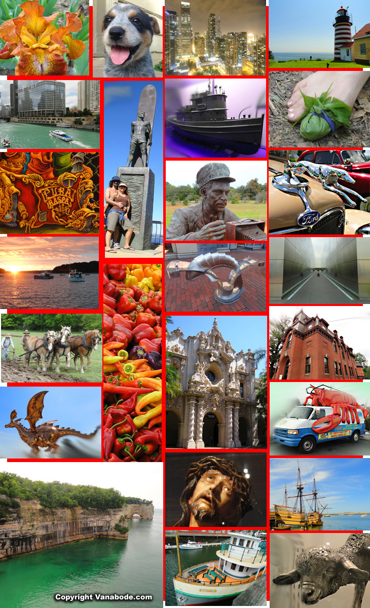vanabode travel collage