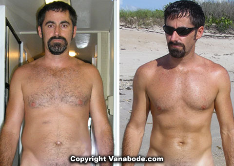 Before and after hoodia diet pill weight loss picture