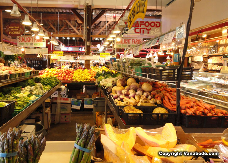 picture taken inside granville island market in vancouver canada