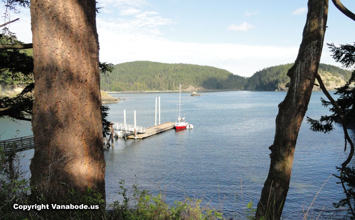 sharpe cove at deception pass state park washington picture