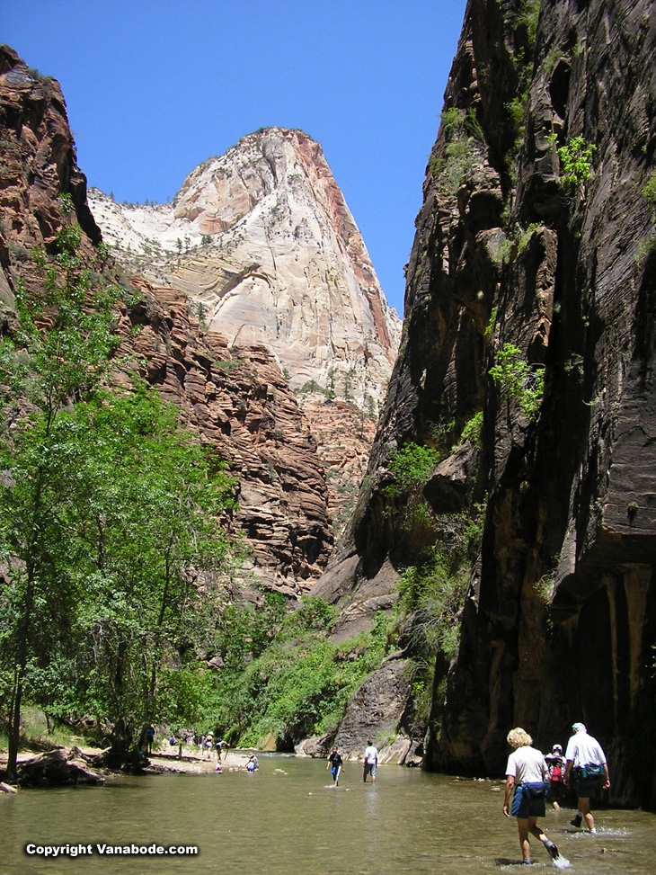 zion narrows hike image